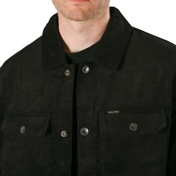 Volcom Likeaton Corduroy Trucker Jacket - Black