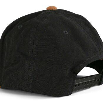 Volcom Quarter Fabric Snapback Cap - Vintage Black