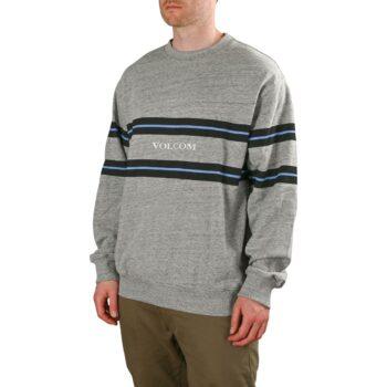 Volcom Zero Division Pullover Crew Sweater - Heather Grey