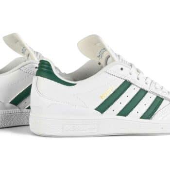 Adidas Busenitz Skate Shoes - White/Collegiate Green/White