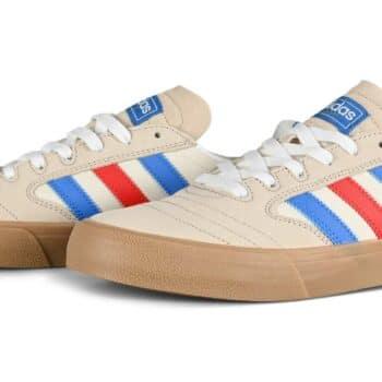 Adidas Busenitz Vulc II Skate Shoes - Bliss/Blue Bird/Gum