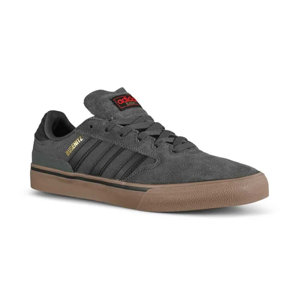 Adidas Busenitz Vulc II Skate Shoes - Grey Six/Core Black/Gum