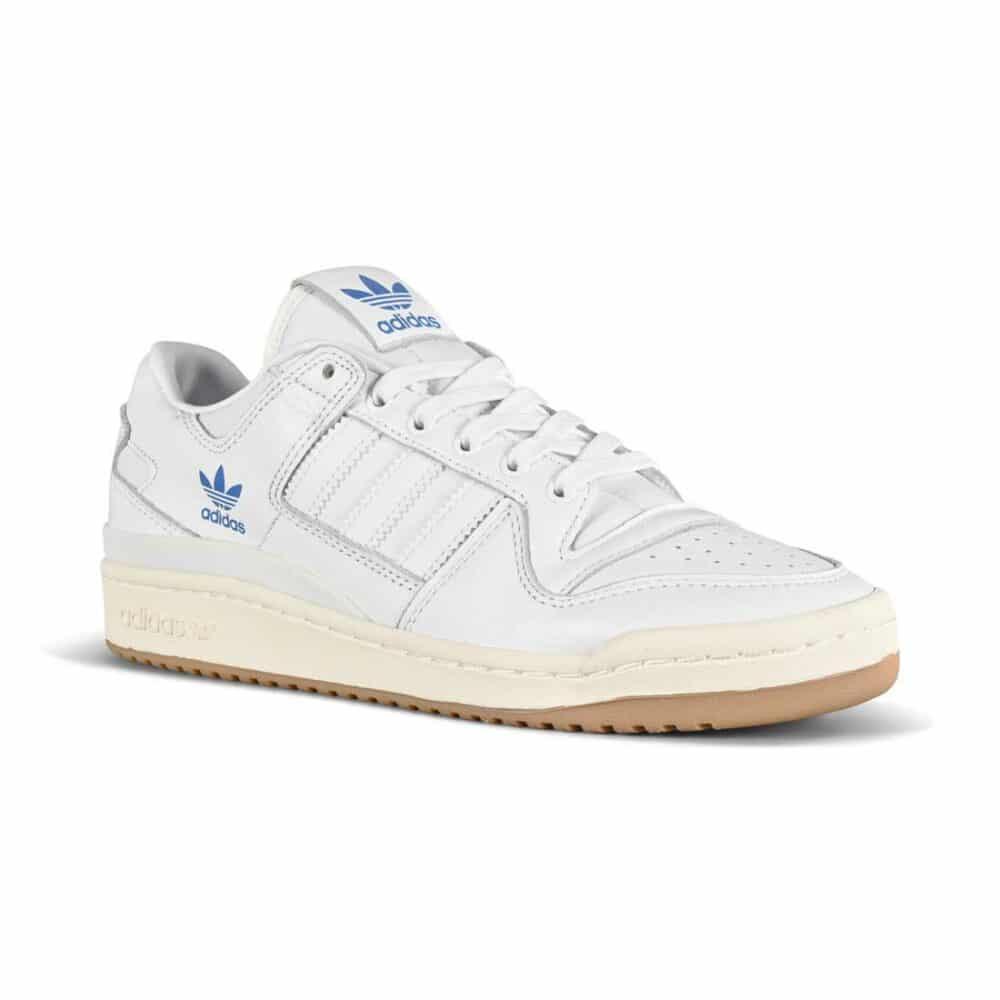 Adidas Forum 84 Low ADV Skate Shoes - White/White/Blue Bird