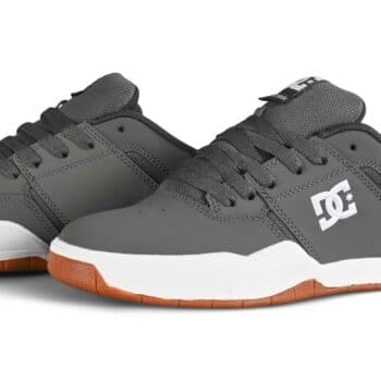 DC Central Low Top Skate Shoes - Grey/White