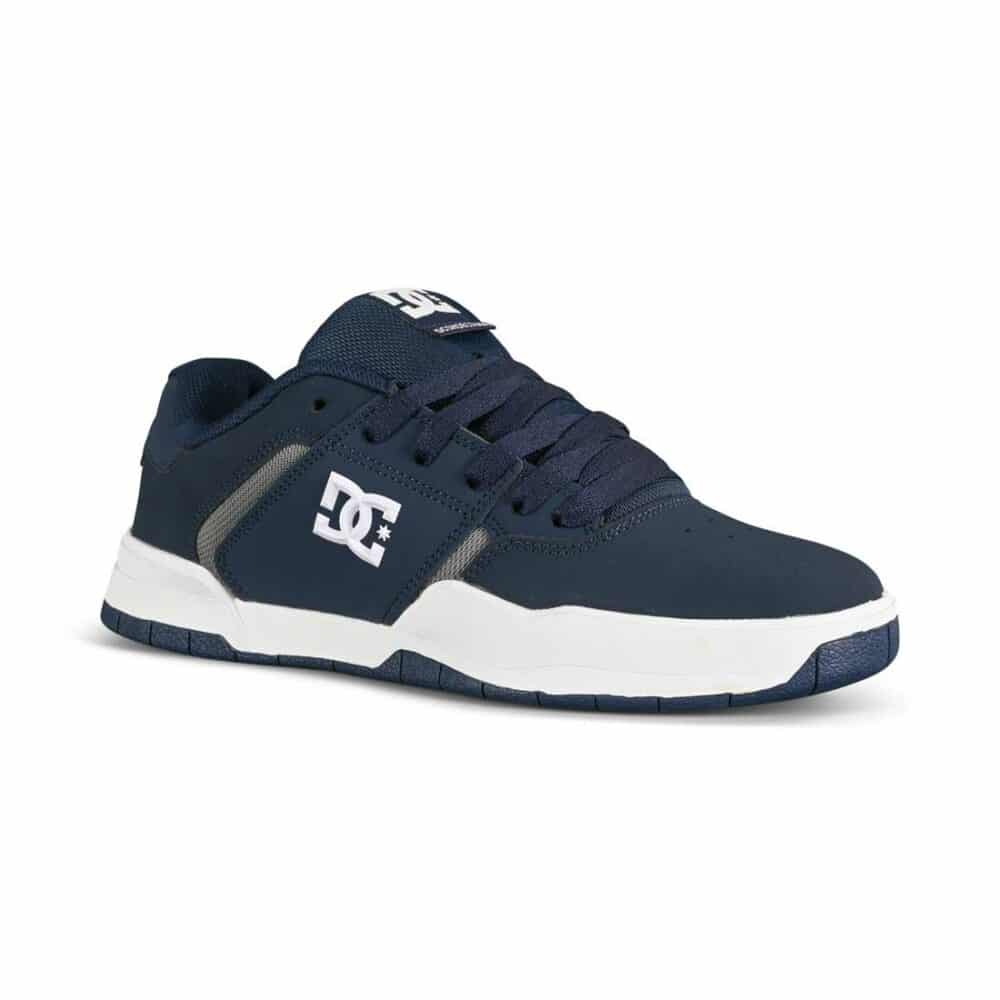 DC Central Low Top Skate Shoes - Navy/Grey