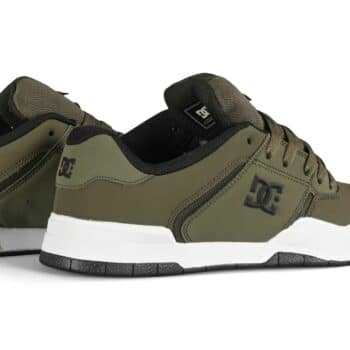 DC Central Low Top Skate Shoes - Olive/Night