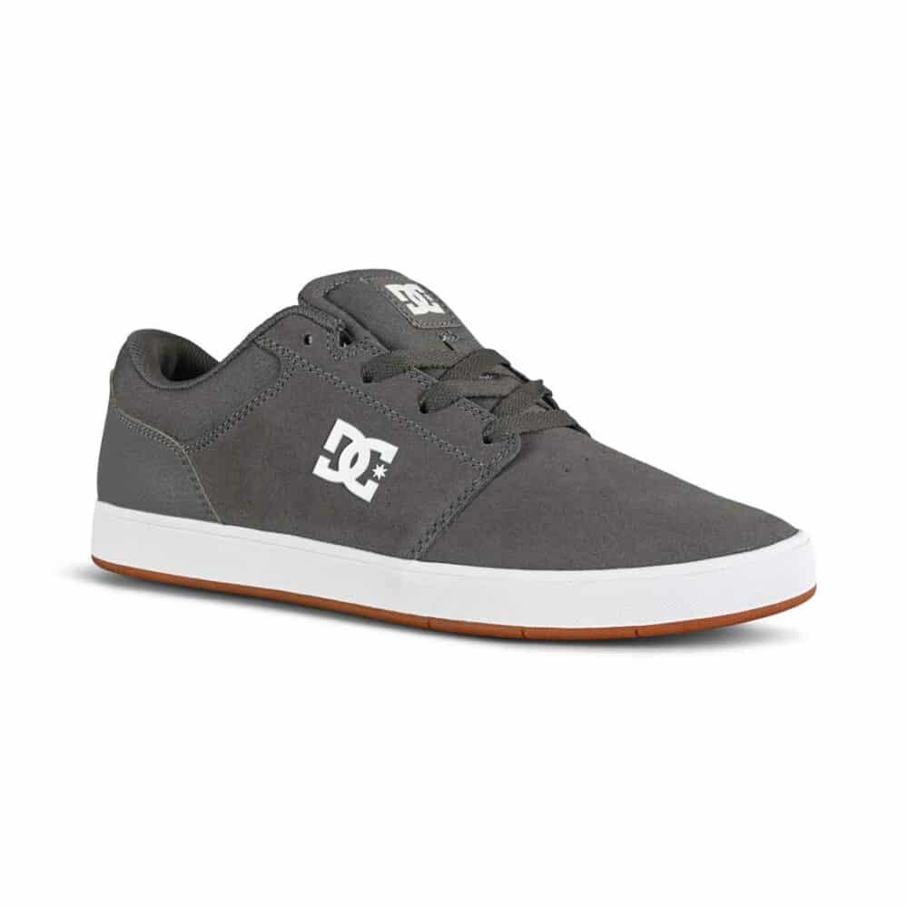 DC Crisis 2 Low Top Skate Shoes - Dark Grey/White