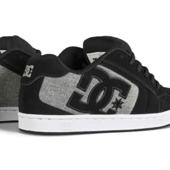 DC Net Low Top Skate Shoes - Black/Grey/Grey