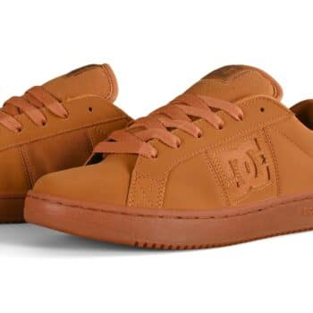 DC Striker Low Top Skate Shoes - Wheat Nubuck
