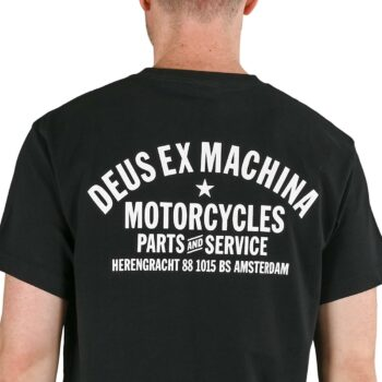 Deus Ex Machina Amsterdam Address (Shield) S/S T-Shirt - Black