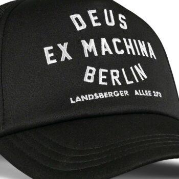 Deus Ex Machina Berlin Address Mesh Back Trucker Cap - Black
