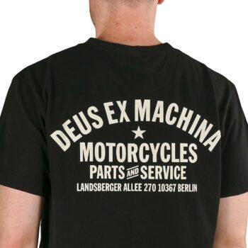 Deus Ex Machina Berlin Address (Shield) S/S T-Shirt - Black
