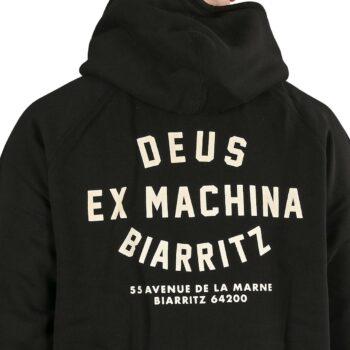 Deus Ex Machina Biarritz Address Pullover Hoodie - Black