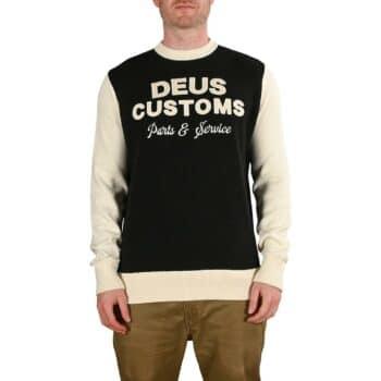 Deus Ex Machina Charleys Moto Knit L/S Jersey - Black