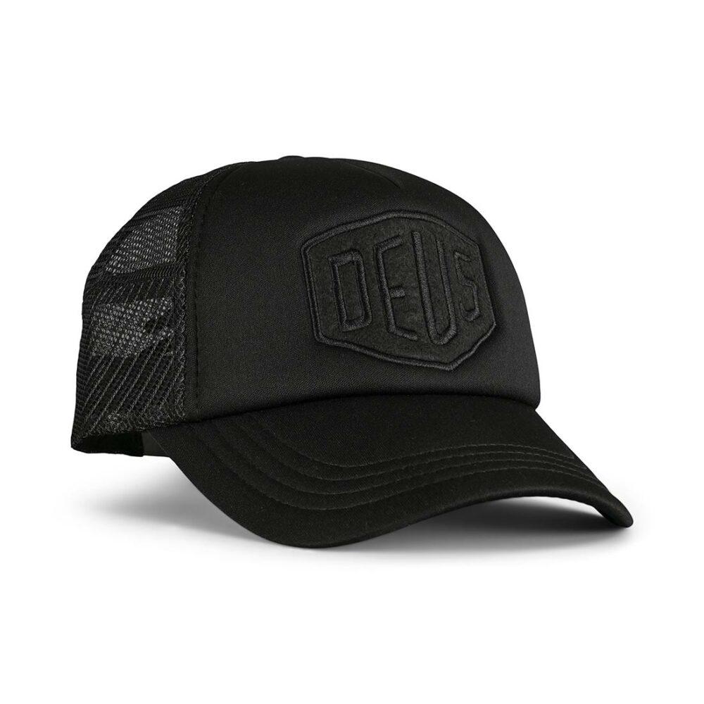 Deus Ex Machina Fleece Shield Trucker Cap - Black