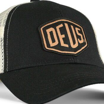 Deus Ex Machina Woven Shield Trucker Cap - Black