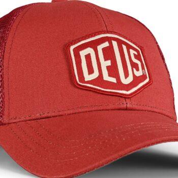 Deus Ex Machina Woven Shield Trucker Cap - Brick Red