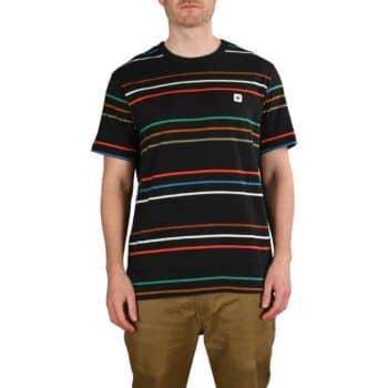 Element Hovden Stripes S/S T-Shirt - Flint Black