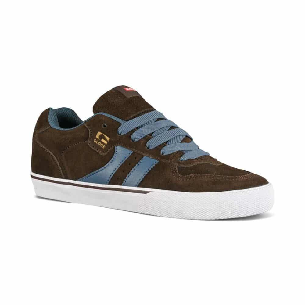 Globe Encore 2 Skate Shoes - Chocolate/Vintage Blue