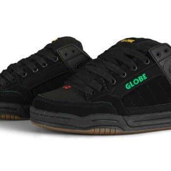 Globe Tilt Skate Shoes - Black Nubuck/Rasta