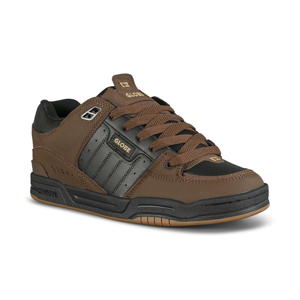Globe Fusion Skate Shoes - Black/Brown/Gum