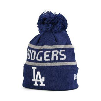 New Era LA Dodgers Jake Bobble Cuff Knit Beanie - Blue