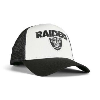 New Era Las Vegas Raiders Team Arch 9FORTY A-Frame Trucker Cap - Black