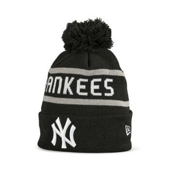 New Era NY Yankees Jake Bobble Cuff Knit Beanie - Black