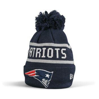 New Era New England Patriots Jake Bobble Cuff Knit Beanie - Navy