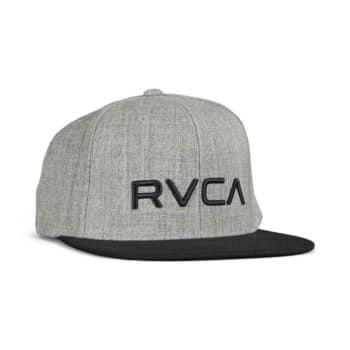 RVCA Twill Snapback Cap - Heather Grey/Black