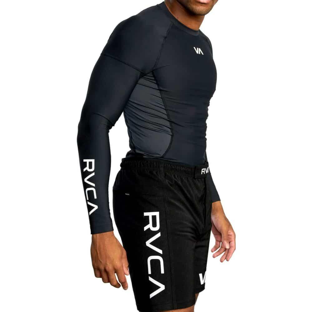 RVCA Compression L/S Sport Top - Black