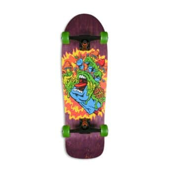 "Santa Cruz Toxic Hand 31.7"" Cruiser Skateboard - Purple"