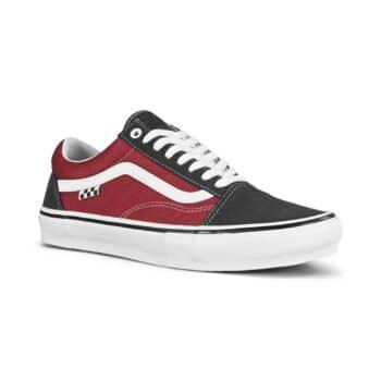 Vans Old Skool Skate Shoes - Asphalt/Pomegranate