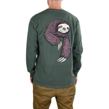 Welcome Sloth L/S T-Shirt - Spruce Green
