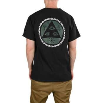 Welcome Tali Chain S/S T-Shirt - Black/Dark Green