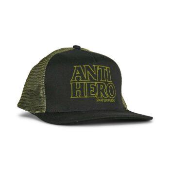 Anti Hero Black Hero Outline Snapback Cap - Olive/Black
