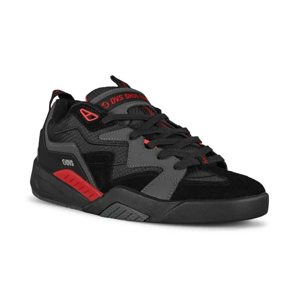 DVS Devious Skate Shoes - Charcoal/Black/Red