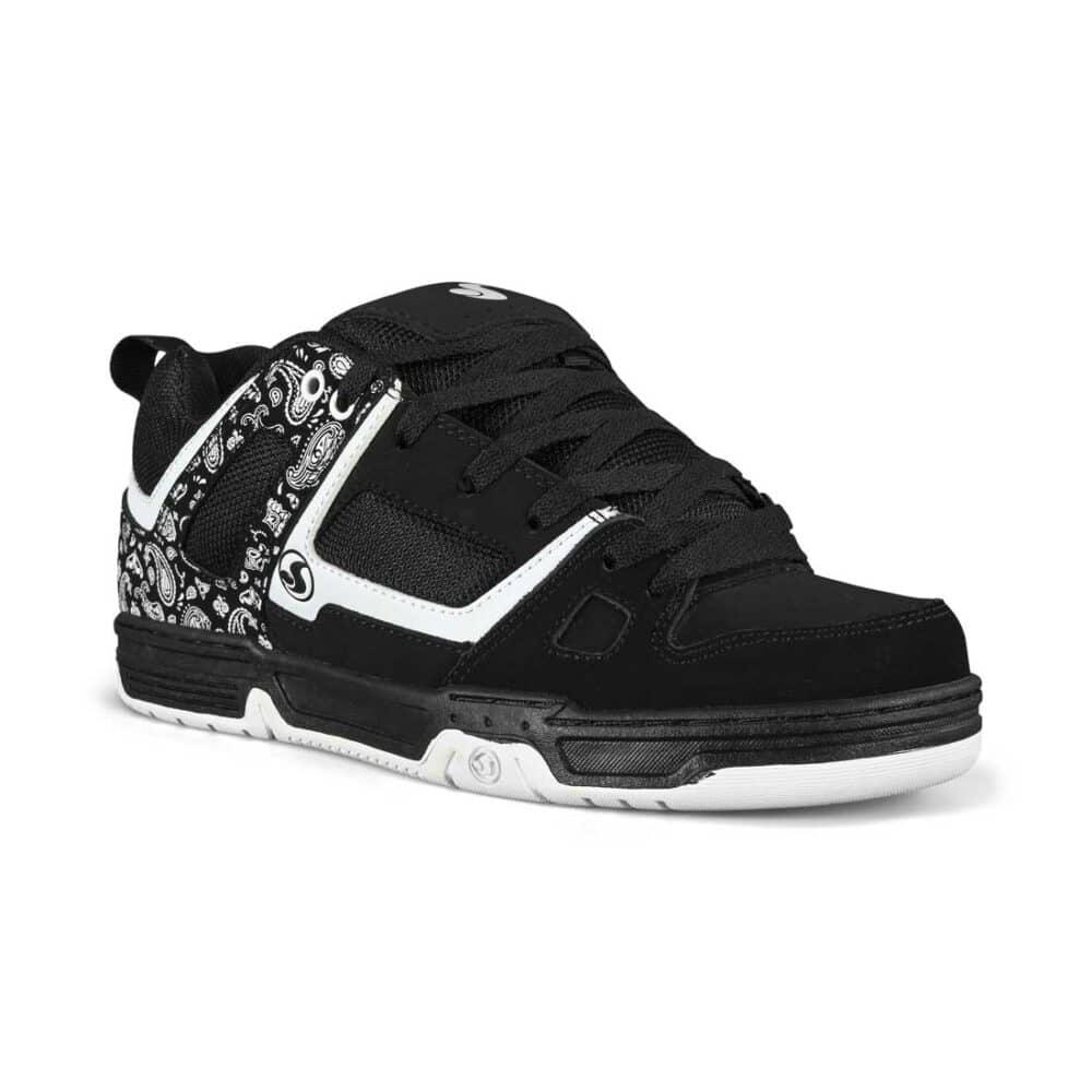 DVS Gambol Skate Shoes - Black/White PU Nubuck
