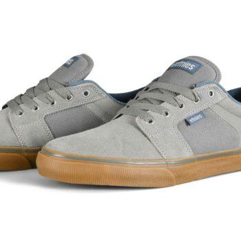 Etnies Barge LS Skate Shoes - Grey/Blue/Gum