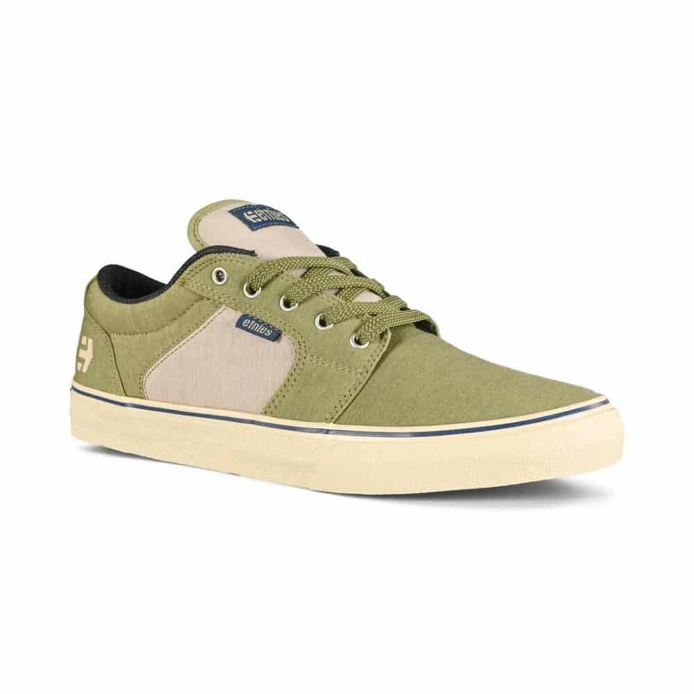 Etnies Barge Preserve Skate Shoes - Olive/Tan