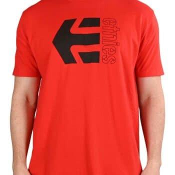 Etnies Corp Combo S/S T-Shirt - Red/Black