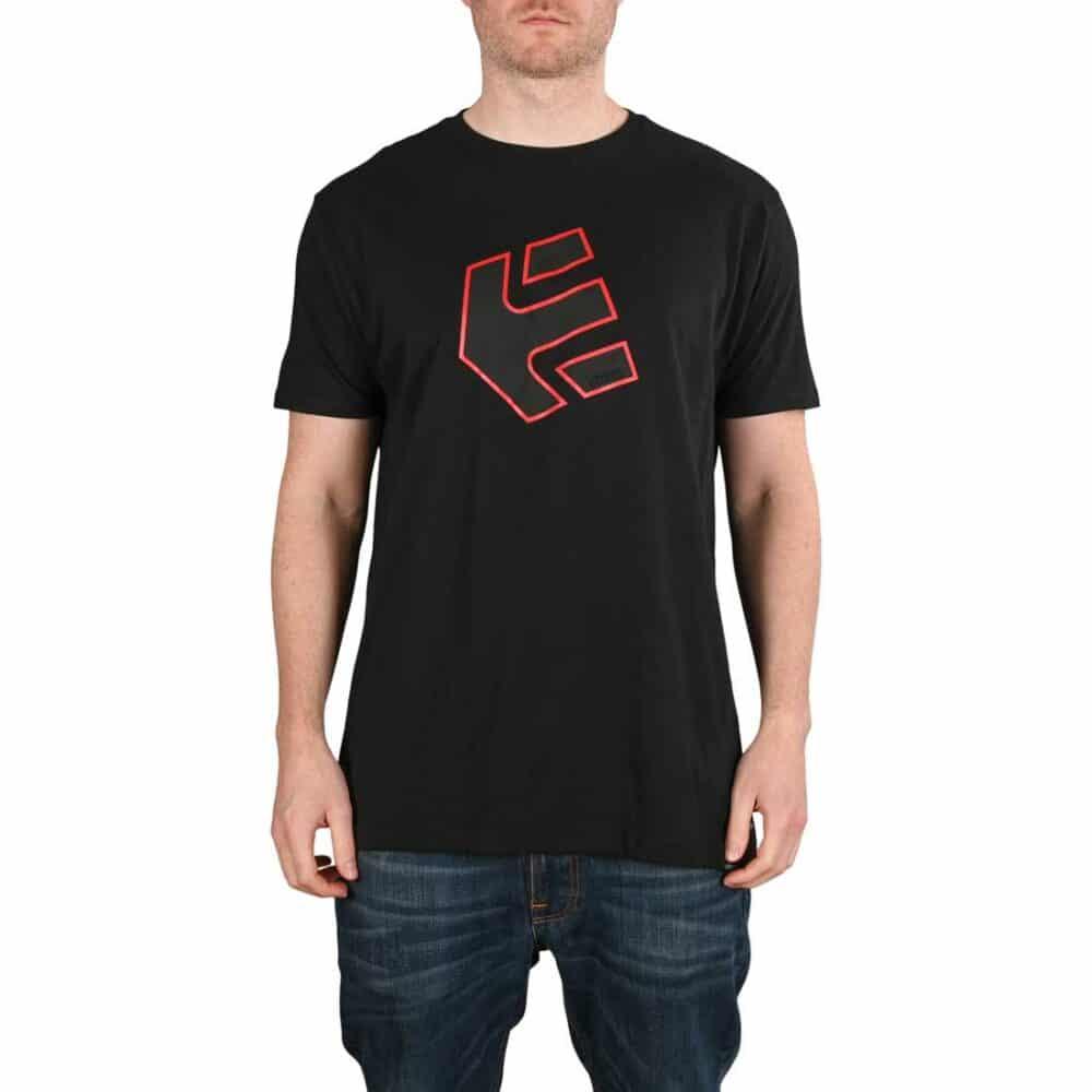 Etnies Crank S/S T-Shirt - Black/Black/Red