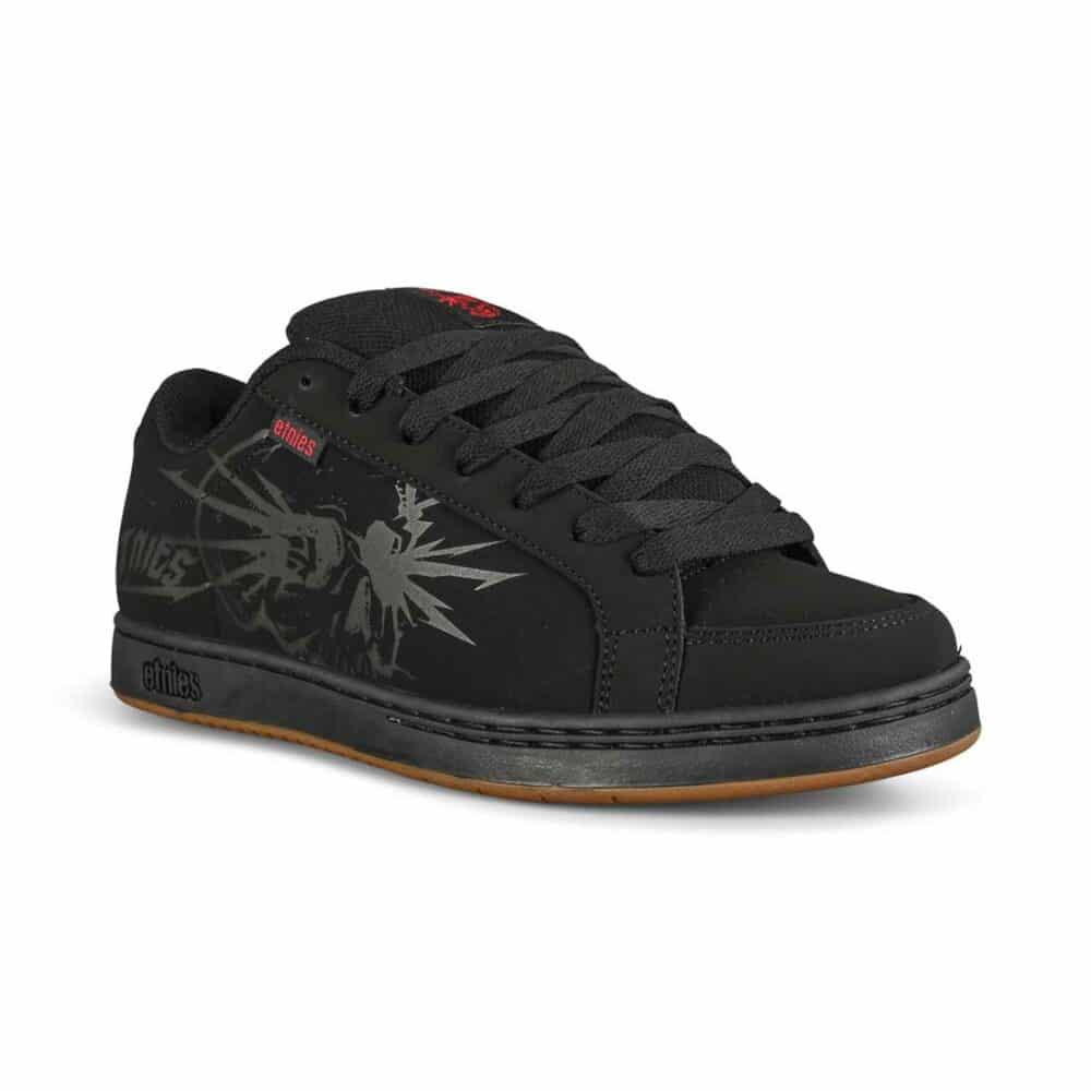 Etnies Kingpin 2 Skate Shoes - Black/Black/Print