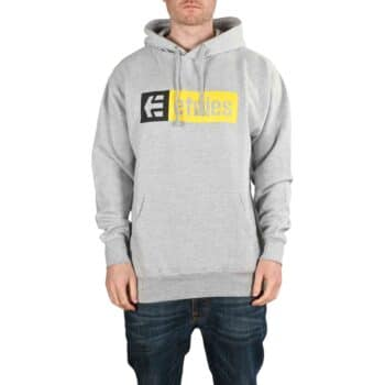 Etnies New Box Pullover Hoodie - Grey/Black/Yellow