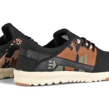 Etnies Scout Shoes - Black/Camo/Olive