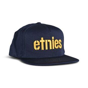 Etnies Corp Snapback Cap – Navy/Yellow