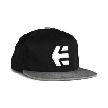 Etnies Icon Snapback Cap – Black/White/Grey