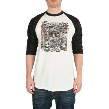 Independent Top Crust 3/4 Baseball Raglan T-Shirt - Black/White