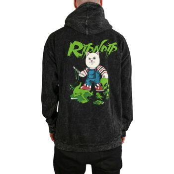 RIPNDIP Childs Play Pullover Hoodie - Black Mineral Wash
