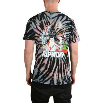 RIPNDIP Far Far Away S/S T-Shirt - Black/Pink/Blue Spiral Dye